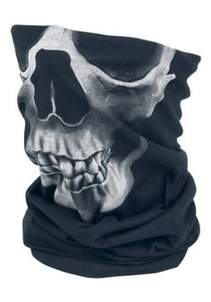 Reversible Skull Buff - Huivi - Black Premium by EMP
