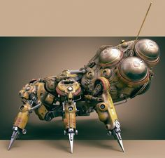 ArtStation - Mech per day project: Robot nr3, Tor Frick