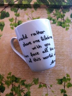 Items similar to The Lord of the Rings Mug - Arwen quote and Gift Box on Etsy Lotr, Harry Potter Items, Sharpie Art, Cuppa Tea, The Fault In Our Stars, Funny Coffee Mugs, Middle Earth, Lord Of The Rings, Hush Hush