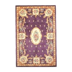 KAS Oriental Ruby Fleur De-Lis Aubusson Rugs | Rugs Direct ($99) ❤ liked on Polyvore featuring home, rugs, fleur de lis area rugs and fleur de lis rugs