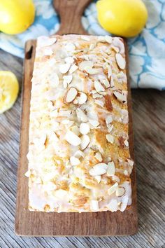 Extra Off Coupon So Cheap Lemon Almond Bread-super moist lemon quick bread topped with a sweet lemon glaze and sliced almonds! Visit our site for more simple fresh and family friendly recipes. Breakfast Desayunos, Breakfast Bread Recipes, Quick Bread Recipes, Homemade Breakfast, Lemon Loaf Cake, Almond Bread, Almond Milk, Dessert Bread, Bread Cake