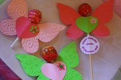 . Birthday Candy, Barbie Birthday, Butterfly Party, Butterfly Crafts, Saint Valentine, Valentine Gifts, Pineapple Gifts, Diy And Crafts, Crafts For Kids