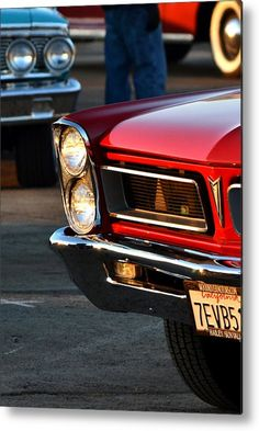 Red Gto From San Francisco Metal Print By Dean Ferreira