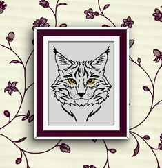 BoGo Pattern cross stitch Lynx Instant Download by LolitaMade