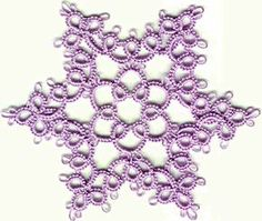 Tatted Snowflake Pattern...picture & written directions