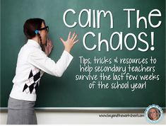 The end of the year is approaching and not only are your students getting restless, but chances are you are too! In the upper grades it can sometimes be difficult to keep control in a Middle School Reading, Middle School Classroom, Math Classroom, Classroom Ideas, Teaching Science, Teaching Resources, Teaching Ideas, Teacher Organisation, End Of Year Activities