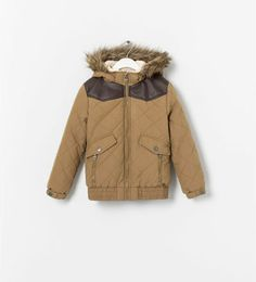 QUILTED JACKET WITH CONTRAST DETAILING from Zara