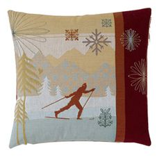 @Overstock.com - Corona Decor Modern Cross Country Ski Decorative Pillow - Complete your home decor with this elegant throw pillow.  This decorative pillow features hand-tied fringe and a feather/down insert.  http://www.overstock.com/Home-Garden/Corona-Decor-Modern-Cross-Country-Ski-Decorative-Pillow/6137582/product.html?CID=214117 $79.99