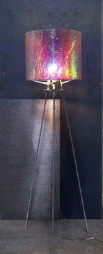 Dichroic Drum - Zen Industrial Art lighting by Lightlink Lighting. As seen in Austin HOME magazine. #LightlinkLighting #Houzz