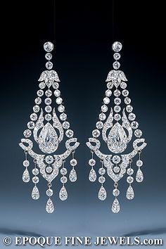 The Gryphon\'s Nest — Diamond Chandelier Earrings by M.Katz | 耳环 ...