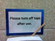 World's most unnecessary sign?