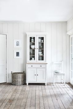 Suffolk 3ft contemporary dresser painted in Silver Birch