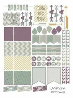 Dark green, plum and yellow planner printables! Download for free now!