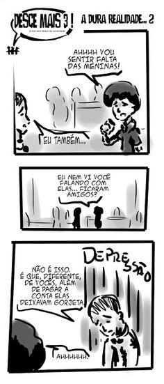 RABISCOS ENQUADRADOS: DESCE MAIS 3! Nº171: GORJETA