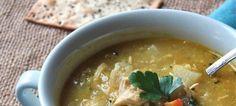 Η πραγματική κοτόσουπα, με λεμόνι Cheeseburger Chowder, Thai Red Curry, Food And Drink, Cooking Recipes, Favorite Recipes, Ethnic Recipes, Soups, Soup