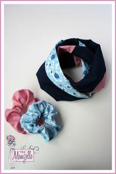 Foulard infini deux tours fillette 2-12 ans écharpe mode enfant - tissu rose ed2a016b46a