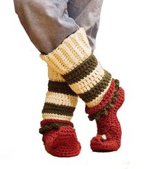 Crochet Pattern, Crochet Christmas Pattern, Crochet Elf Shoes Pattern, Baby Booties Pattern, Baby Toddler and Youth Adult Elf Shoes Pattern Christmas Crochet Patterns, Crochet Christmas, Knitting Projects, Crochet Projects, Fun Projects, Elf Slippers, Elf Shoes, Learn To Crochet, Diy Crochet