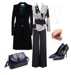 """Look formal para cuerpo Rectangular • Outfit 2"" by insolita on Polyvore featuring moda, RED Valentino, Emporio Armani, Incoco, Emilio Pucci, Rupert Sanderson y Amber Sceats"