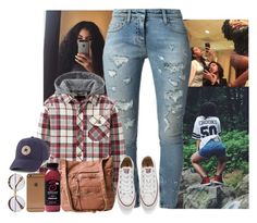 44a3655e8 by jemilaa ❤ liked on Polyvore featuring Faith Connexion, Uniqlo, Converse  and
