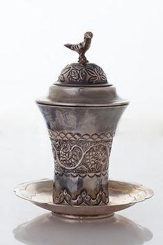 Antique Bridal Kiddush Cup ~ Sterling Silver ~ Iraq, circa 1920s