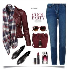 """Untitled #433"" by jovana-p-com ❤ liked on Polyvore featuring Topshop, Loeffler Randall, LE3NO and Lipstick Queen"