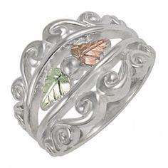 Black Hills Gold Sterling Silver Womans Ring - MyBlackHillsGold.com