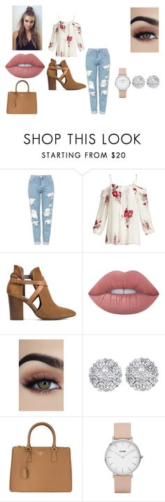 """outfit #11"" by jayda-bug ❤ liked on Polyvore featuring Topshop, Joie, H London, Lime Crime, Allurez, Prada and CLUSE"