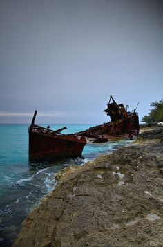 Shipwrecked from a tempest.