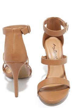 6607f7d008 Sexy Natural Heels - Dress Sandals - Tan High-Heel Sandals -  31.00 Tan High