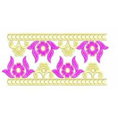 Flower Neckline With Two Borders Embroidery Set Border Embroidery Designs, Machine Embroidery Designs, Neckline, Flowers, Art, Art Background, Plunging Neckline, Kunst, Performing Arts