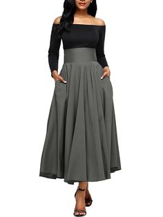cd8c9a0f18 LaceShe Women's Multi-Color Big Swing Skirts
