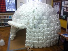 Teacher's Pet – Ideas  Inspiration for Early Years (EYFS), Key Stage 1 (KS1) and Key Stage 2 (KS2)   Milk Bottle Igloo