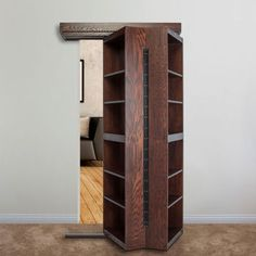 Stairs To A Loft Are Hidden In A Cabinet Then Fold Out