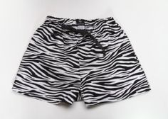 Black & White Zebra Stripe Boxer Short Pajama Bottom by Beverly HIlls Basics (Large) Beverly Hills Basics. $12.00