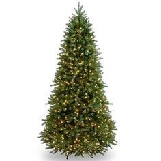 National Tree Company 6.5-ft. Clear Pre-Lit Jersey Fraser Fir Slim Artificial Christmas Tree, Green