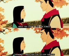 Mulan's Grandma Fa, is by far my favorite Disney Elder. - Imgur