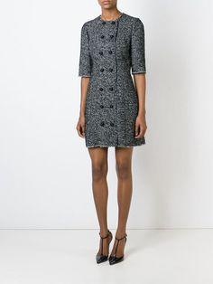 Dolce & Gabbana твидовое платье на пуговицах