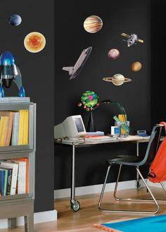 Ruimtevaart muurstickers met planeten