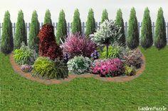 Projekt ogrodu:Rabata w ogródku - Wiosna