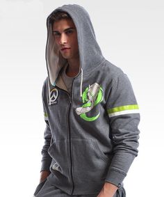 83f9f5e94 Overwatch Genji Zip Up Hoodie Mens Gray Sweatshirt Cool Grey Sweatshirt, Zip  Hoodie, Overwatch