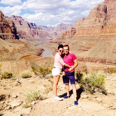 My husband & I in the Grand Canyon.