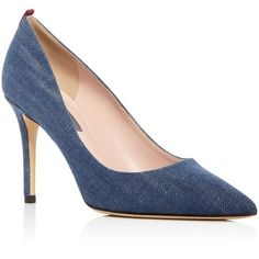 Sjp by Sarah Jessica Parker Fawn Pointed Toe Pumps (22.130 RUB) ❤ liked on Polyvore featuring shoes, pumps, denim, sjp, denim pumps, pointed toe shoes, pointy toe pumps and pointy toe shoes
