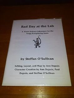 Other Role Playing Games 1183: Fudge Role-Playing Game Rpg : Bad Day At The Lab (Original Hard Copy - Rare) -> BUY IT NOW ONLY: $99.95 on eBay!