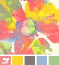 watercolor, color palettes, color design, design seeds, color combos