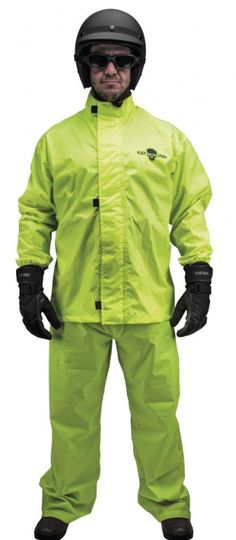 54f15d7ae Black Brand Hi-Vis Two Piece Mens Motorcycle Street Rain Suit Mens Rain Suit