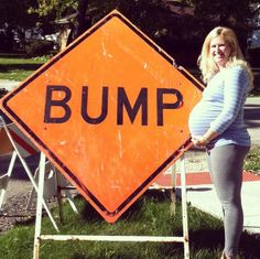 """What a fun way to show off your bump while Baby is """"under construction""""!"""