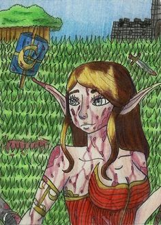 Another aceo card ^-^ #aceo #kakaokarte #elf #blood #warrior #war #fight #pwgallery