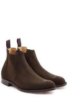 #Churchs #Chelsea, #Boots aus #Veloursleder #, #Braun für #Herren Ein cleanes…