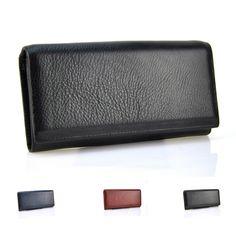 Bifold 패션 정품 가죽 여성 지갑 핸드폰 걸쇠 동전 포켓 여성 클러치 신용 카드 홀더 여성 지갑 지갑