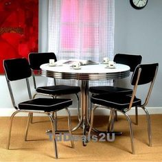 retro kitchen chairs and tables photo - 5
